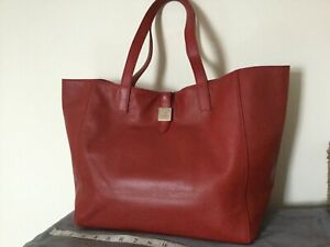 MULBERRY TESSIE TOTE IN POPPY RED