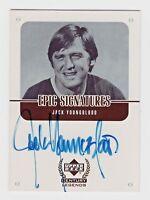 1999 Upper Deck Century Legends Epic Signatures Jack Youngblood Rams NFL HOF