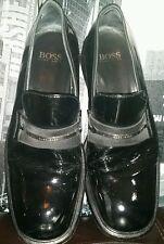 Rare Vintage ICONIC HUGO BOSS Black BOYFRIEND Loafers Shoes Patent Tuxedo 9.5