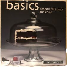 Ambroisa Basic Pedestal Cake Plate and Dome Model 42011 - New