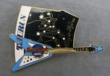 Hard Rock Cafe Pin Las Vegas Limited Edition Horoscope Zodiac Taurus Blue