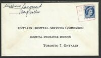 """Canada Square town cancel """"Baysville, ONT '58"""""""