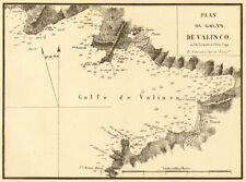 Plan du Golfe de Valinco. CORSE CORSICA. Gauttier 1851 old antique map carte