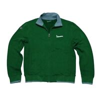 Vespa Mens Original Sweatshirt Green With Logo New RRP £79.99!!! 605724M0