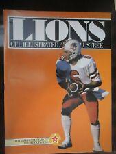 1982 CFL Canadian football program BC Lions @ Edmonton Eskimos