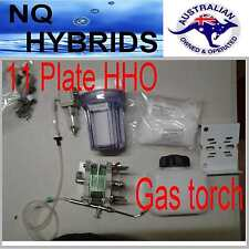 HHO GAS TORCH.. HYDROGEN 11 PLATE  GENERATOR  POWERED KIT