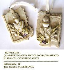 Bomboniera comunione quadretto piccolo con sacramento cm9*6 con nastrino raso