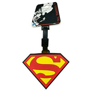 Superman Logo Designed Durable Excellent Quality Stylized Rubber Luggage Tag