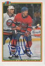 BRIAN SKRUDLAND SIGNED 1990-91 BOWMAN $49 - MONTREAL CANADIENS