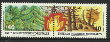 CHILE 1986 FOREST FIRES 2v PAIR MNH