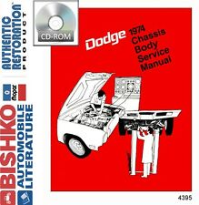 1974 Dodge Challenger Dart Charger Shop Service Repair Manual CD