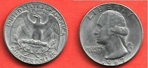 ETATS UNIS . QUARTER DOLLAR 1967 . SUPERBE
