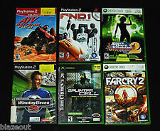 XBOX 360 PlayStation 2 Video Game Lot - Splinter Cell, AND 1, FARCRY 2, Offroad!