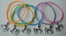x6 HORSE PONY GUMMY BANDS CHARM BRACELETS PARTY BAG GIFTS FILLERS PRIZES FAVOURS