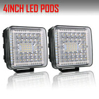2X 4 Inch 360W LED Work Light Bar LED Pods Flush Mount Combo Driving Lamp