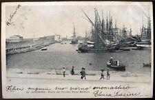 cartolina LIVORNO punta del vecchio porto mediceo