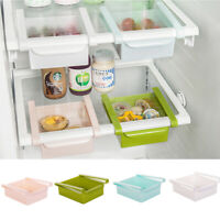 Fridge Freezer Slide Space Saver Organizer Kitchen Storage Rack Shelf Holder Hot
