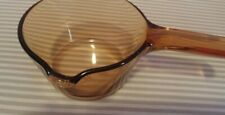 CORNING VISION 07L VERY NICE NO LID FRANCE POT PAN GLASS AMBER  POURING LIP