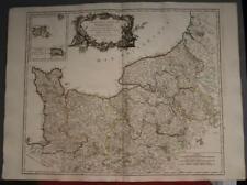 NORMANDY FRANCE 1751 ROBERT DE VAUGONDY ANTIQUE ORIGINAL COPPER ENGRAVED MAP