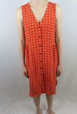 Madewell Water Flower Red Dress