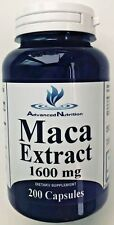 Maca Root Extract 1600mg 200 Caps Sexual Intimacy Testosterone Gluten FREE