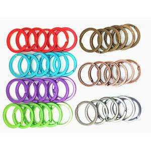 Split rings for keyrings, 19 /20 mm internal Ø), Packs of 6, up to 7 colours