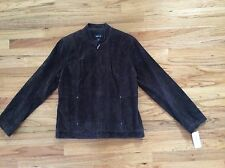 NWT, Women Suede Leather Jacket, Brown, Large