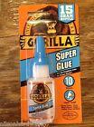 Gorilla Super Glue .53oz 15g Clear Metal Rubber Impact Tough Strong Anti Clog