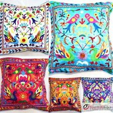 Rayon Embroidered Square Decorative Cushions & Pillows