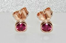 9ct Rose Gold on Silver Ruby Stud Earrings
