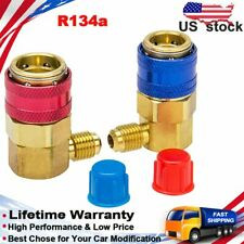 R134a AC A/C Air Conditioning Adapter Fittings Quick Coupler Connector High Low
