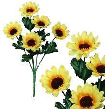 "Lot of 120 Sunflower 13"" Pick Home Office Decor Artificial Silk Flower Home"