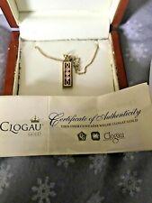 Clogau galés 9 quilates de oro y Diamante Colgante Lingote de edición limitada conmemorativa