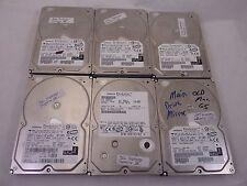 Lot of 6 Hitachi Deskstar 400GB Desktop SATA Hard Drives 7200RPM TESTED
