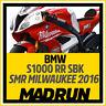 Kit Adesivi BMW S1000RR Milwaukee SBK 2016 - High Quality Decals