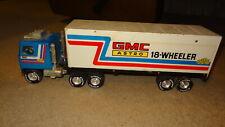 Nylint GMC Astro semi truck and trailer. 1970's 1980's Blue & White. 18 Wheeler.