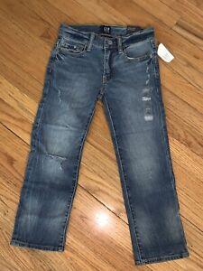 NWT Gap Kids Denim Jeans Size 6 Boys Regular Stretch Straight