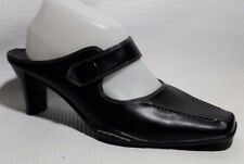 PREDICTIONS Black Mary Jane Mules Slip On Heels Career Dress Shoes Womens 8 Wide
