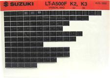 Suzuki LT-A500F Vinson 4WD 2002 2003 Parts Catalog Microfiche s534