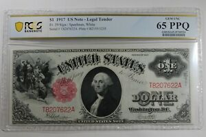 1917 $1  PCGS   CU65PPQ  FR.39  US NOTE- LEGAL TENDER  LEGACY CURRENCY GRADING