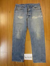 used Levis 501 destroyed feathered grunge USA jean tag 38x32 meas 35x31.5 16353F