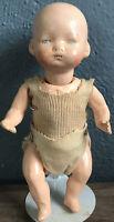 """Antique 8"""" German Composite? Doll"""