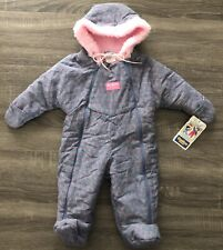 Vintage Oshkosh Baby B'Gosh Infant Girl's Snowsuit Size 15-20 lbs
