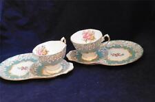 2 Royal Albert Enchantment Dessert Snack Plates & Cups Set EUC