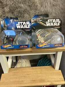 STAR WARS HOT WHEELS,X-WING FIGHTER RED 3 AND TIE FIGHTER