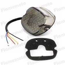 Smoke LED Tail Brake Stop Rear Turn Indicator Light Lamp Lay Down For Harley