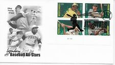 US Scott #4694-97, First Day Cover 7/20/12 Cooperstown Plate Block Baseball