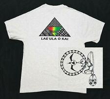 Lae'ula O Kai Outrigger Canoe Club T-Shirt Mens MED-LARGE Gray MAUI HI Paddling