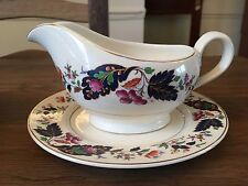 Pretty Vintage Grindley China Gravy Boat & Side Plate