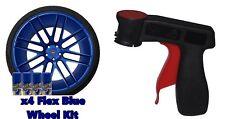 Performix Plasti Dip Flex Blue 4 Pack Wheel Kit Spray Aerosol Cans With Trigger